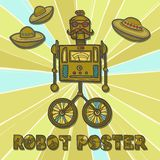 Hipster robot design Royalty Free Stock Photography