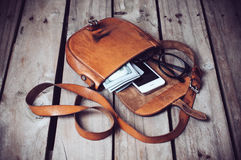 Hipster's bag Royalty Free Stock Images