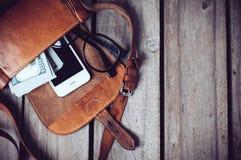 Hipster's bag Stock Photos