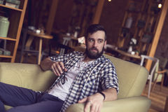 Hipster`s leisure time Royalty Free Stock Images