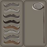Hipster's mustache and monocle greeting card Royalty Free Stock Images