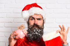 Hipster Santa Claus Royaltyfria Bilder