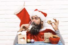 Hipster Santa Claus Arkivbild