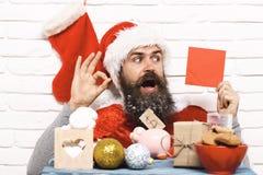 Hipster Santa Claus Arkivbilder