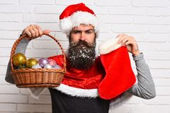 Hipster Santa Claus Royaltyfri Foto