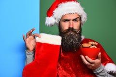 Hipster Santa Claus Royaltyfri Fotografi