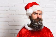 Hipster Santa Claus Royaltyfri Bild