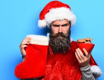 Hipster Santa Claus Arkivfoto