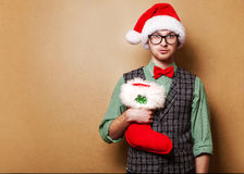 Hipster Santa Claus Royalty Free Stock Photography