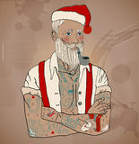 Hipster Santa Claus Stock Photo