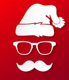 Hipster Santa Claus silhouette Stock Image