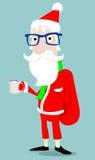 Hipster Santa Claus Stock Image