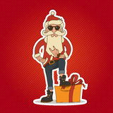 Hipster Santa Claus vector illustration Stock Photo