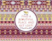 Hipster seamless aztec pattern Royalty Free Stock Photos