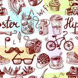 Hipster seamless Royalty Free Stock Photo