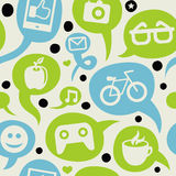 Hipster seamless pattern with design elements Royalty Free Stock Photos