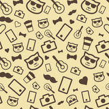 Hipster seamless pattern Stock Image
