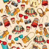 Hipster seamless pattern Royalty Free Stock Images