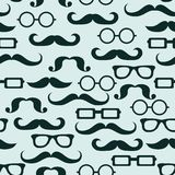 Hipster seamless pattern, vector Stock Images