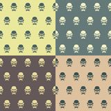 Hipster character seamless pattern Royalty Free Stock Images
