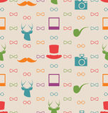 Hipster Seamless Texture, Pattern with Vintage Colors Stock Photo