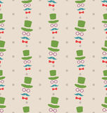 Hipster Seamless Texture, Pattern with Vintage Colors Stock Image