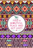 Hipster seamless tribal pattern with geometric elements Stock Photography
