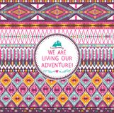Hipster seamless tribal pattern with geometric elements Stock Photo