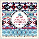 Hipster seamless tribal pattern with geometric elements Royalty Free Stock Photos