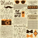 Hipster seamless vintage newspaper Royalty Free Stock Images
