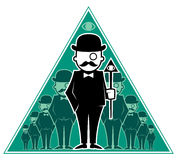 Hipster Secret Society. Conceptual illustration for secret society. No transparency and gradients used Stock Photo