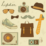 Hipster set. A cool set of hipster related items Royalty Free Stock Photography