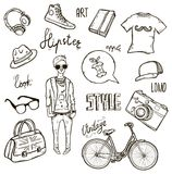 Hipster set. Set of hipster's style elements Stock Photography