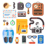 Hipster set. Flat vector Royalty Free Stock Image