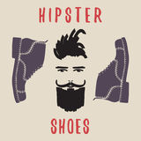 Hipster shoes. Mens shoes. Vector illustration. Royalty Free Stock Photography