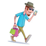 Hipster Shopper Royalty Free Stock Photo