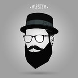 Hipster sign hat Royalty Free Stock Photo