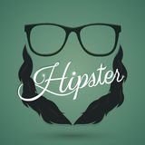 Hipster sign. And symbol. Vector and illustration Stock Photography