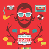 Hipster Signs Elements. Vector design elements for creative works Royalty Free Stock Images