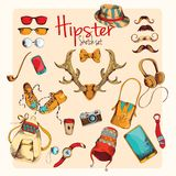 Hipster sketch set Stock Photography