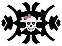 Hipster skull design for girls Royalty Free Stock Photography