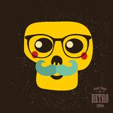 Hipster skull in glasses. Stock Images