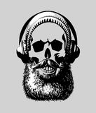 Hipster skull Royalty Free Stock Image