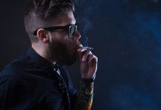Hipster smoker Royalty Free Stock Images