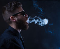 Hipster smoker Stock Photo