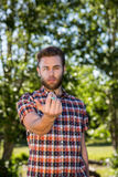 Hipster smoking an electronic cigarette Royalty Free Stock Photo