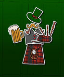 Hipster St.Patrick's Day card Royalty Free Stock Photo