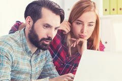 Hipster start up founders working in office Royalty Free Stock Photography