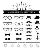 Hipster style and accessories icon set Royalty Free Stock Photography
