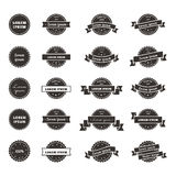 Hipster style badges set Stock Images